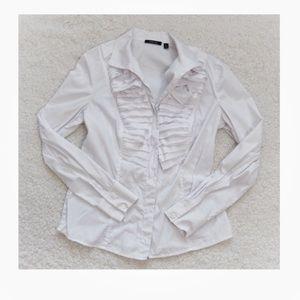 Carlisle White Career Button Down Shirt